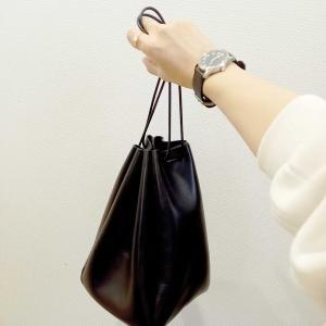 小さめバッグが好き♡巾着バッグやボディバッグ。