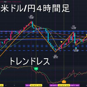 米ドル/円2021年8月30日(月)の見通し