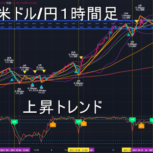 米ドル/円2021年10月15日(金)環境認識