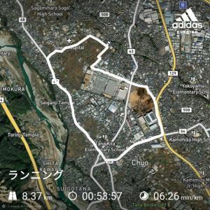 午前中の合間にジョギング