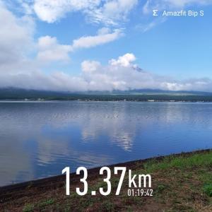 山中湖1周ラン🏃