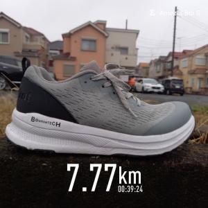 朝🌄ラン 霧雨🏃7.77km