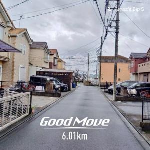 朝🌥️ラン🏃 6km