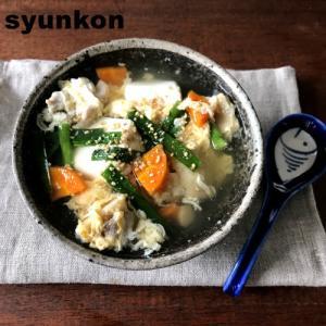 【簡単!!汁物・おかずスープ】豆腐と鶏とニラの卵スープ