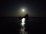 中秋の名月inビシャゴ姉妹岩