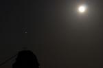 満月と火星inビシャゴ姉妹岩