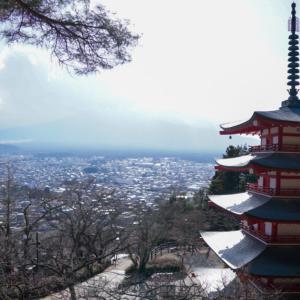 【冬の新倉山浅間公園】快晴なのに富士山だけ隠れる不運day