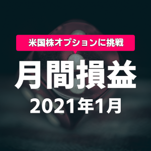 【月間損益】1月 +1382.85ドル(含損-864.42ドル)