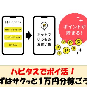 ハピタスでポイ活!まずはサクッと1万円分稼ごう!