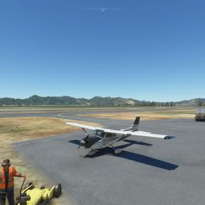 フライトシムで日本一周 レグ122 笠岡ふれあい空港→岡山空港