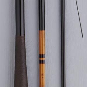 孤舟(先代) 軟式純正鶺鴒 1966年作 13.2尺 節巻 綿糸握り