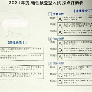 埼玉校の採点評価表が届きました