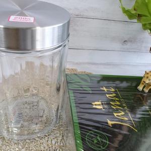 紅茶のティーバッグの保存に100均で大きなガラスのジャーを調達