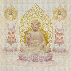 【日食に瞑想。そして日光菩薩、月光菩薩を思い出す】