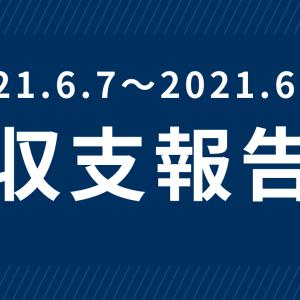 【定期】今週の収支報告(2021.6.7〜2021.6.18)