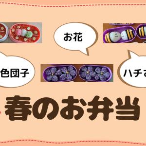 【キャラ弁】春のお弁当【三色団子・お花・ハチ】