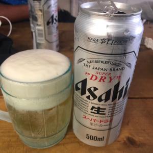 たこ焼き祭りでビールが旨い