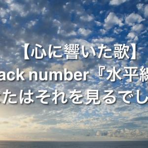 【心に響いた歌】back number『水平線』