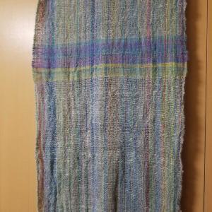手紡ぎのストールと組織図