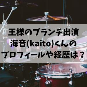 王様のブランチ出演の海音(kaito)のプロフィールや経歴!ミスチルの息子?
