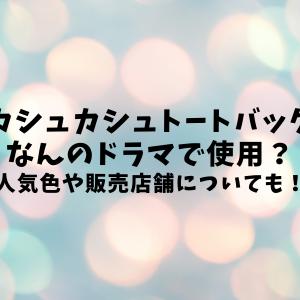 カシュカシュトートバッグなんのドラマで使用された?人気色や販売店舗についても!