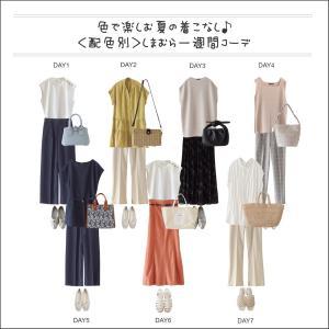 【しまむら】<配色別>一週間コーデ、色で楽しむ夏の着こなし(folk)
