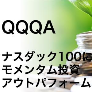 QQQAでナスダック100指数にモメンタム投資