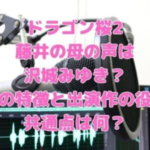 ドラゴン桜2藤井の母の声は沢城みゆき?声の特徴と出演作の役の共通点は何?
