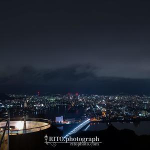 【高知夜景】五台山展望台と高知港の夜景を見に行く