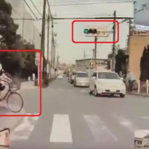 【国内ニュース】電動アシスト自転車を誤作動させ、赤信号無視。衝突事故の動画が公開。