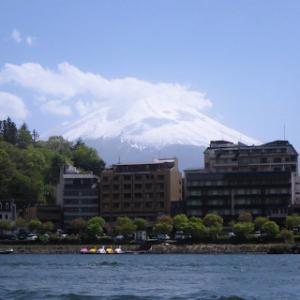 河口湖上からの富士