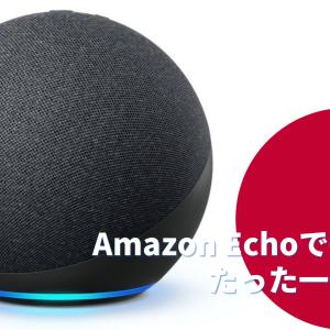 【アレクサ機能紹介】Amazon echoは定型アクションを使うだけでも便利