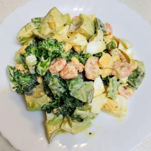 【男の簡単料理】少しだけ色味を気にするようになったので、アボカドサラダ作ってみた