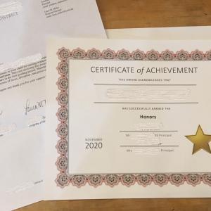 ミドルスクール中間期成績と選抜オーケストラ合格