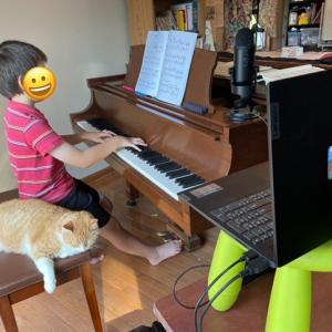 ピアノのzoomレッスンももうすぐ終わり・・かな。