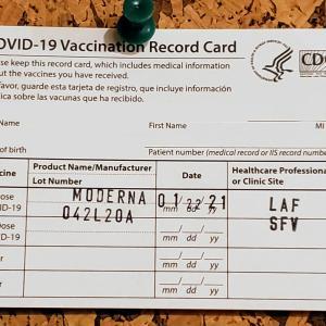 ロサンゼルスでワクチン接種