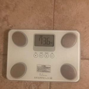 夜体重を測った結果 HCGダイエット Day5