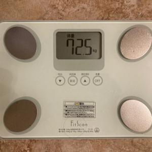 夜に体重を測った結果 HCGダイエット Day8