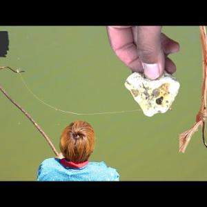 木・石・糸で釣りしてみた【釣り具サバイバル#5】