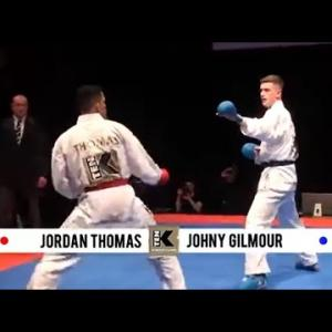 (男子組手)ジョーダン・トーマス VS ジョニー・ギルモア