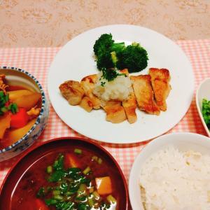 今日の夕食『かぶの煮物』『豚ロースソテー』