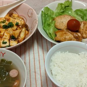 業務スーパーの麻婆豆腐の素を使って夕食