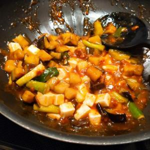 業務スーパの『麻婆豆腐の素』を使って夕食 その2