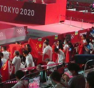 【卓球混合ダブルス決勝】無観客なのに中国応援団 大歓声でアウェーの雰囲気=ネット「ID剥奪しろ!」