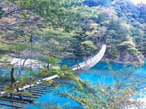 【静岡 / 大井川鉄道】絶景の湖上駅に吊り橋!とろとろ温泉も!