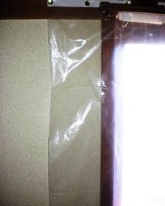 ゴミ袋で遮熱カーテンを手作りしていました