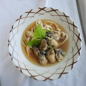 お家で作る牡蠣うどん(そば)は、簡単にいこう!