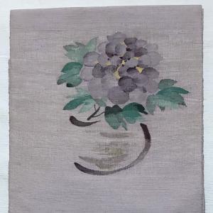 紫陽花の帯のコーデ