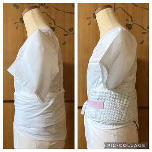 新旧ヘチマ補整着の比較☆手作りマイサイズvs既製品