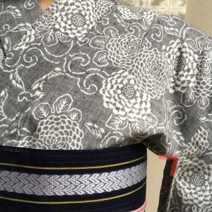 袖付の長さを変えてみました☆ゾウの浴衣編